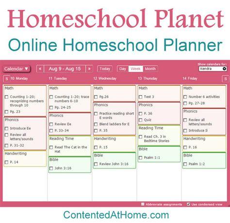 homeschool lesson planner online homeschool planet online homeschool planner contented