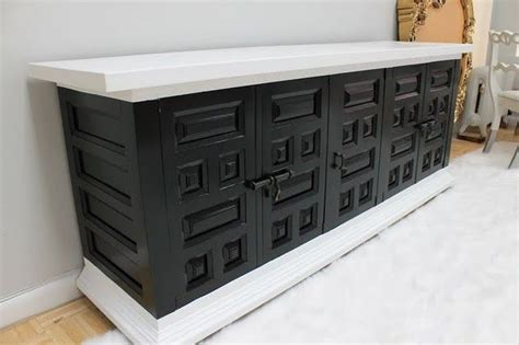 black and white painted furniture for the home