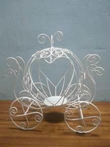 cinderella carriage wedding ring holder centerpiece