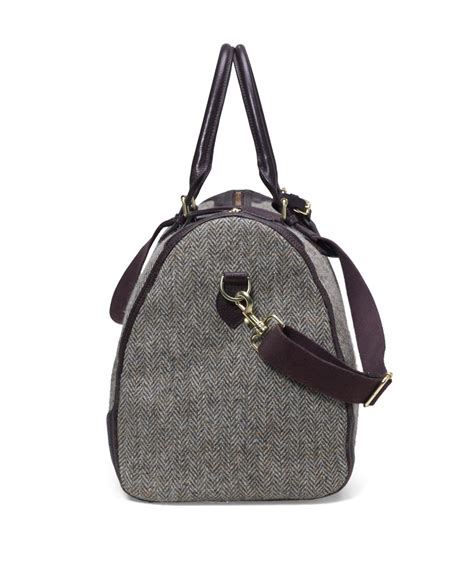 Big Grey Tweed Bag From Promod brothers tweed duffle bag in gray for lyst