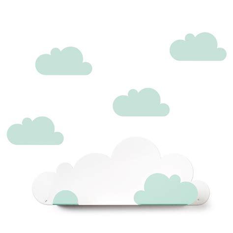 mensole muro mensola nuvola sticker da muro nuvola verde