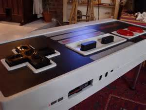 Nintendo Coffee Table Plans Nintendo Nes Controller Coffee Table Integrated Nes