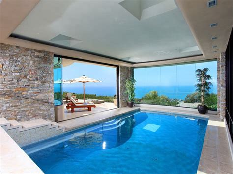 in door pool contemporary swimming pool with exterior terracotta tile