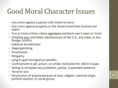 Moral Character Letter For Ins Immigration For The Non Immigration Attorney Ppt