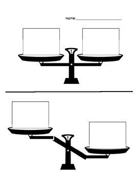 Pan Balance Worksheets by Pan Balance Worksheet By The Fireflies Teachers Pay Teachers
