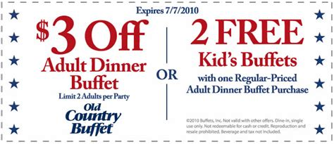 how to get free old country buffet coupons for july