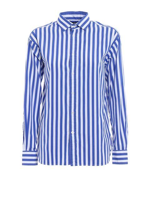 Striped Cotton striped satin cotton shirt by polo ralph shirts
