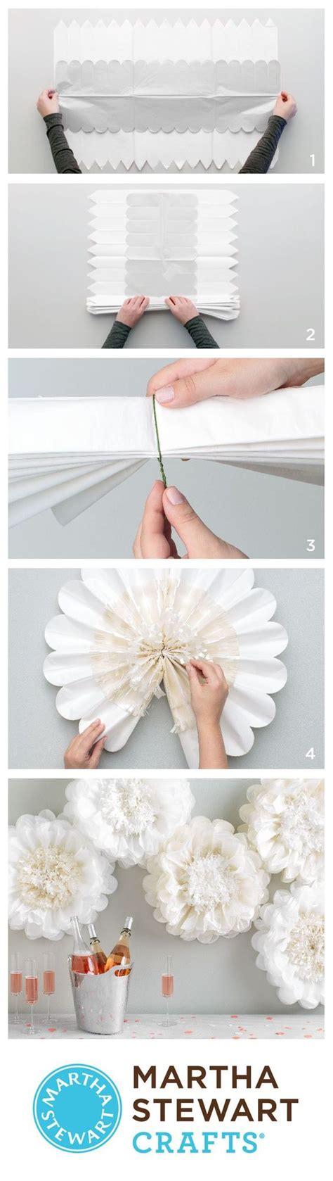 tissue paper flower tutorial martha stewart martha stewart crafts holiday lodge tissue paper flower
