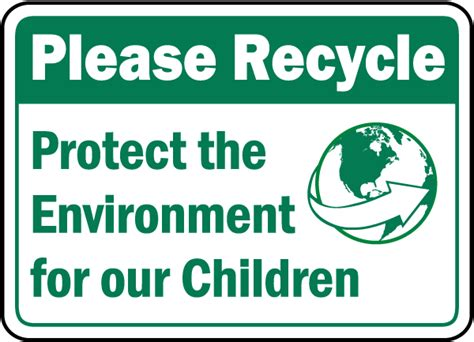 design for the environment label protect the environment sign f7514 by safetysign com