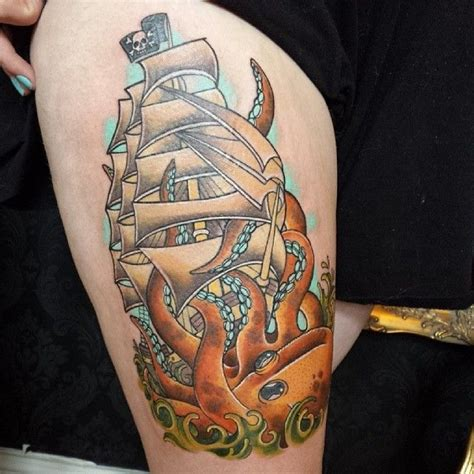 pirate ship tattoo meaning 50 best pirate ship meaning and designs masters