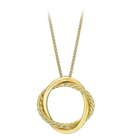 david yurman gold infinity pendant necklace at 1stdibs