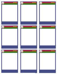 blank bible trading card template baseball card templates free blank printable