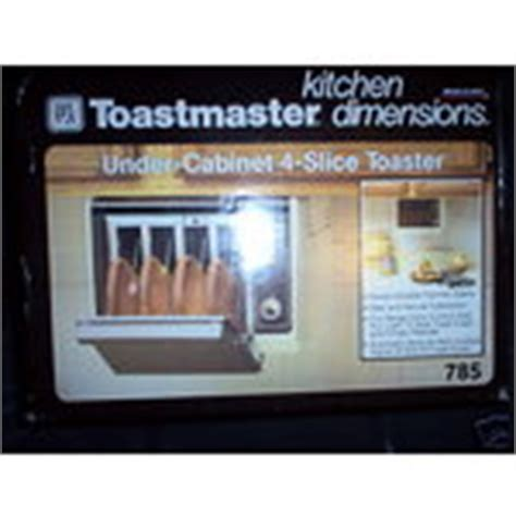 Under Counter Toasters Toastmaster Under Cabinet 4 Slice Toaster 08 27 2008
