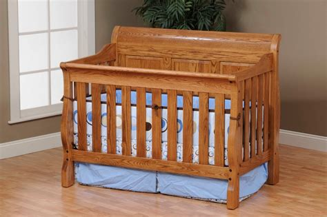 Sleigh Panel Convertible Crib Amish Traditions Wv Convertible Sleigh Bed Crib