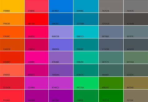 android color default colors for windows ios and android