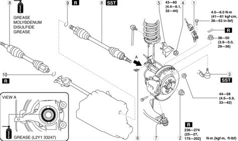 mazda 3 service manual drive shaft removal installation