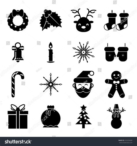 new year symbols vector new year symbols accessories icons stock vector