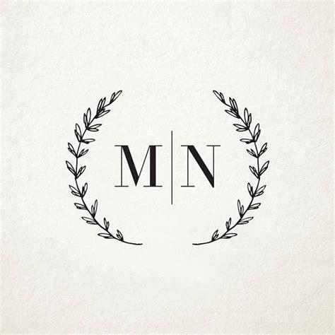 Wedding Card Logo Design by Custom Rustic Wedding Monogram Design Custom Wedding Logo