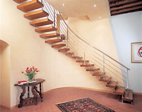 Hanging Stairs Design Marretti Srl Wood Open Structure Hanging Staircases