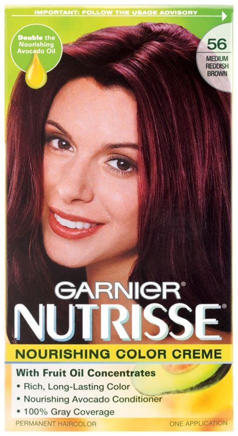 medium reddish brown hair color garnier nutrisse nourishing permanent hair color medium