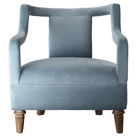 blue velvet armchair hardy mid century open sky blue velvet armchair kathy