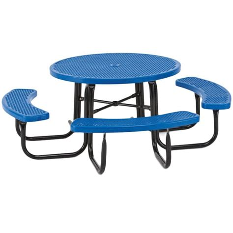 round table bench seats round ada outdoor table with bench seats 358ra the