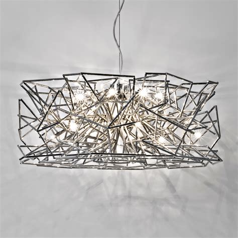 geometric pattern hanging light round geometric silver pendant light