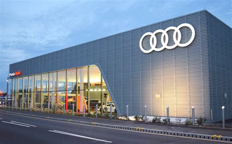 audi showroom a gym spa and first class lounge poole launches state of