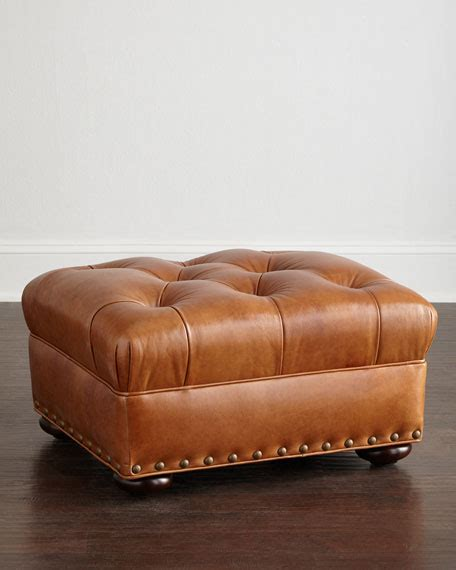 hickory tannery tufted leather chair ottoman hickory tannery tufted leather chair ottoman