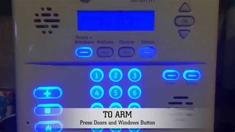 how to arm and disarm ge simon xt home security system