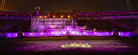 edinburgh tattoo westpac stadium robert juliat merlin casts its spell in new zealand on