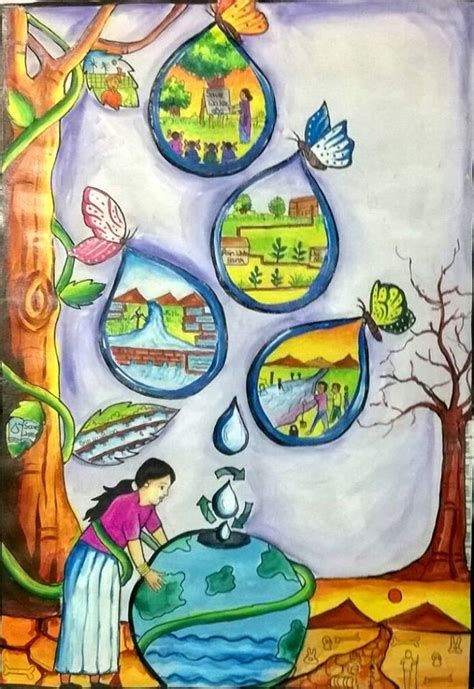 themes drawing competition themes for painting of conservation of water resources