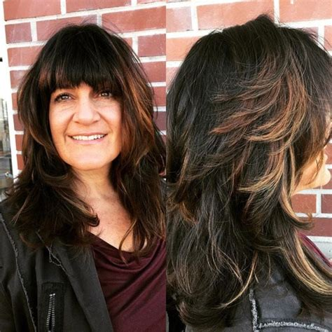 Hairstyles With Bangs For Hair by 40 And Effortless Layered Haircuts With Bangs