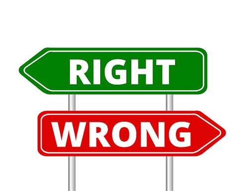 Right Wrong by Right Clipart Right Wrong Pencil And In Color Right