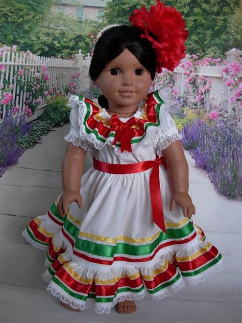 mexican rag dolls for sale mexican folklorico dress for josefina american doll