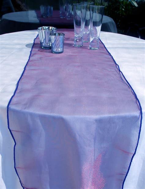 organza table runner purple
