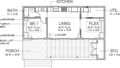 640 square feet floor plan modern style house plan 1 beds 1 baths 640 sq ft plan