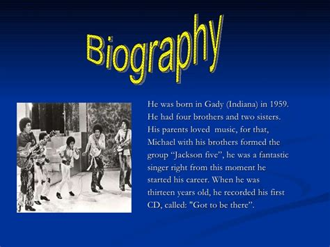michael jackson biography powerpoint presentation of michael jackson