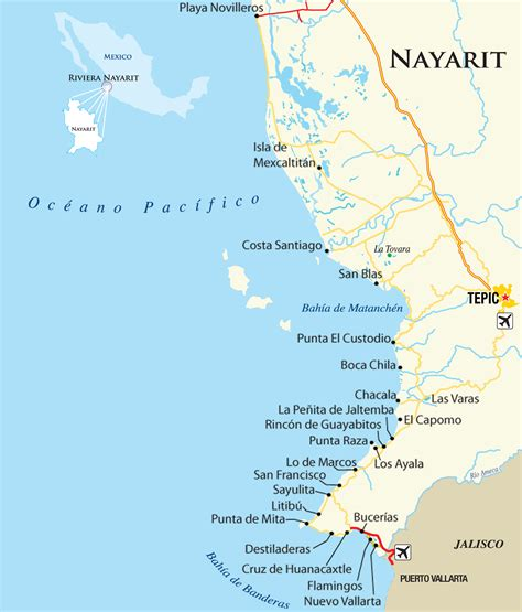 hotel map interactive interactive map for riviera nayarit mexico pacific