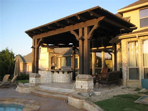 Pergola Outdoor Kitchen Attached To House Pergola Design Pergola Designs