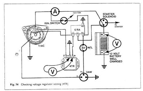 lucas 15ac alternator wiring diagram circuit and