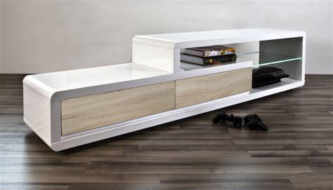 Meuble Tv Suspendu 250 by Meuble Tv Design Blanc Laqu 233 Brillant Ertis Mobilier Priv 233