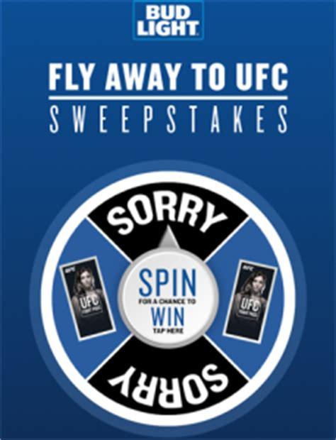 Anheuser Busch Sweepstakes - anheuser busch bud light fly away to ufc win a gra giveawayus com