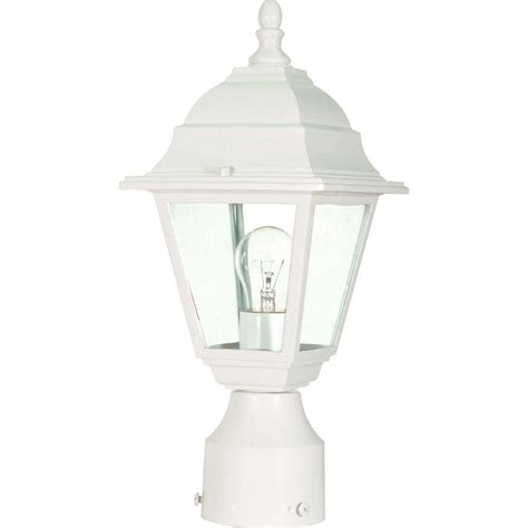 white outdoor post light glomar 1 light white outdoor incandescent post light hd