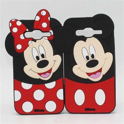 Samsung J5 3d Silicone Mickey Minnie Mouse Cover Casing Bumper 3d minnie mouse silicone back cover for celular