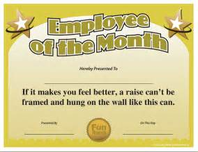 Employee Of The Month Certificate Templates Search Results For Employee Of The Month Certificate