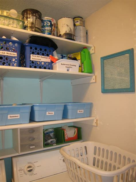 laundry room shelves simple home decoration