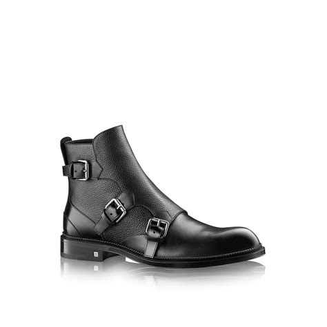 louis vuitton mens boots louis vuitton defender ankle boot in black for lyst
