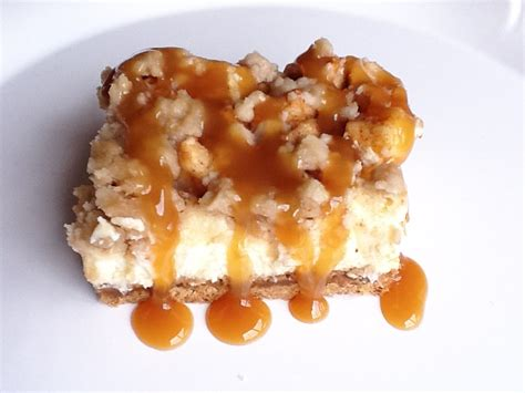 caramel apple cheesecake bars with streusel topping the gourmet country girl caramel apple cheesecake bars