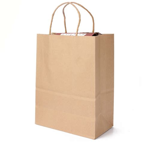 Brown Craft Paper Bags - kraft brown twisted handle shopping gift merchandise paper